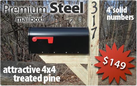 Premium Steel Mailbox with Post Installation Option