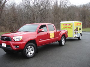 Truck and Trailor for Mailbox Installations